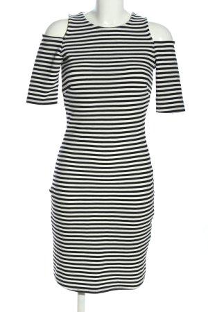 H&M Cut-Out-Kleid schwarz-weiß Allover-Druck Casual-Look