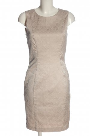 H&M Vestido cut out crema estampado gráfico elegante