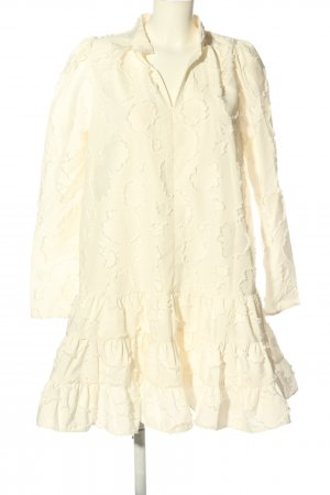 H&M Robe découpée blanc cassé motif abstrait style décontracté