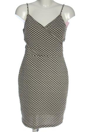 H&M Robe découpée noir-blanc imprimé allover style décontracté
