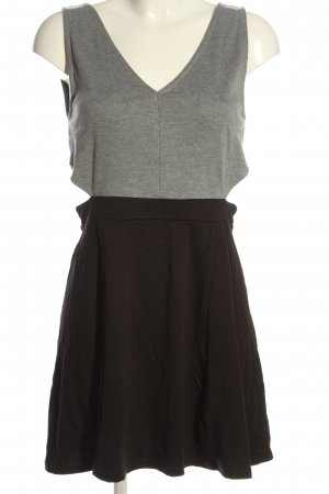 H&M Cut Out Dress light grey-black flecked casual look