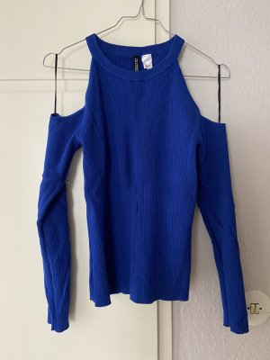 H&M Divided Prążkowana koszulka niebieski
