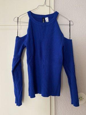 H&M Divided Geribd shirt blauw