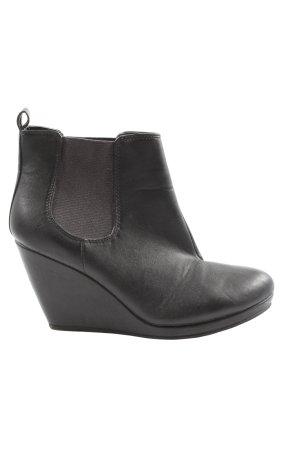 H&M Wedge Booties black casual look