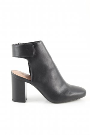H&M Cut Out Booties black business style
