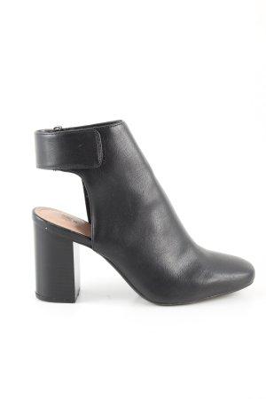 H&M Botki z wycięciem czarny W stylu biznesowym