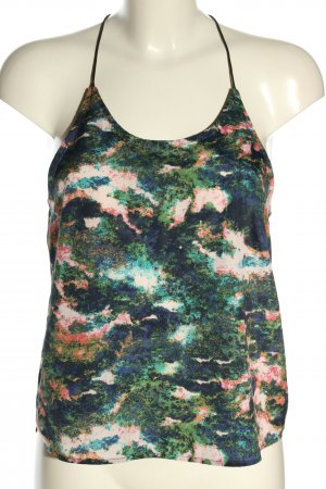 H&M Top cut out estampado con diseño abstracto look casual