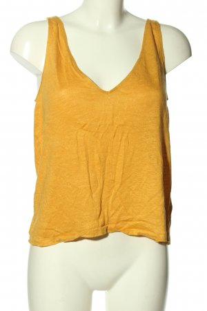 H&M Cut Out Top light orange casual look