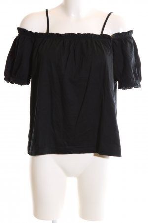 H&M Cut-Out-Top schwarz Casual-Look