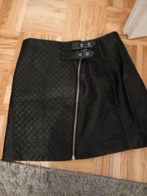 H&M Divided Vestido de cuero negro
