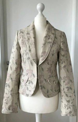 H&M Damen Blazer XS 34 Sakko mit Blumenmuster