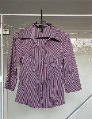 H&M Damen Bluse 3/4 Arm gestreift weiß lila Gr. 38, Top Zustand