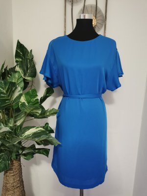 H&M Hemdblousejurk neon blauw