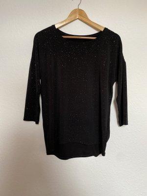 H&M Damen Glitzer Shirt Langarmshirt