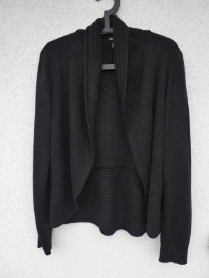 H&M – Damen Grobstrick-Cardigan, schwarz - Gebraucht