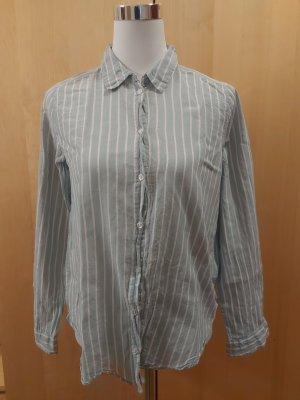 H&M Damen Hemd gestreift minzgrün