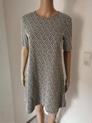 H&M Damen Jersey Kleid Etuikleid A-Linie schwarz weiß Größe 38
