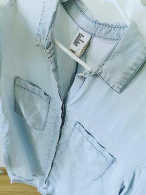H&M Bluzka jeansowa błękitny