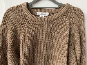 H&M Pullover a maglia grossa marrone chiaro-marrone-grigio