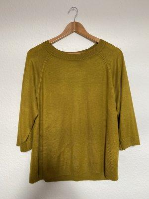 H&M Długa koszulka piaskowy brąz-złotopomarańczowy
