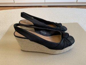 H&M Sandalo outdoor nero-crema
