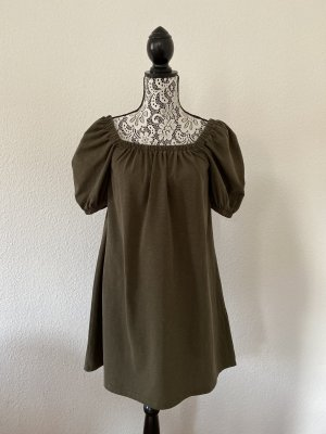 H&M Damen Sommerkleid Khaki Grün Gr. XS TOP !!
