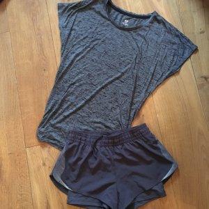 ❤️H&M❤️ Damen Sport Set Gr. XS grau Shirt/ Shorts top!