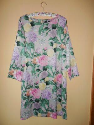 """H&M"" Damenkleid, Kleid, Sommerkleid, Mini, 3/4 Arm, Gr. 34, mit Blumenmuster,"