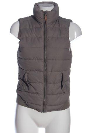 H&M Gilet en duvet gris clair motif de courtepointe style décontracté