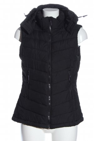 H&M Down Vest black quilting pattern casual look
