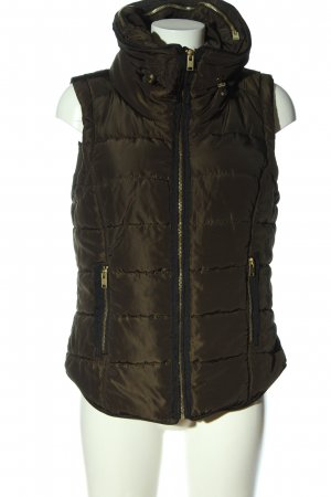 H&M Down Vest bronze-colored quilting pattern casual look