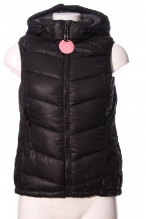 H&M Down Vest brown quilting pattern casual look