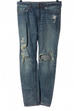 H&M DENIM Vaquero holgados azul look casual