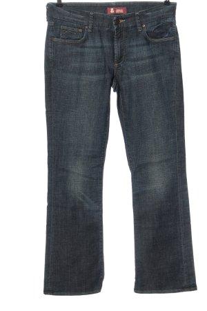 H&M DENIM Jeansy o kroju boot cut niebieski W stylu casual