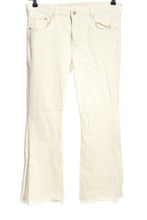H&M DENIM Boot Cut Jeans wollweiß Casual-Look