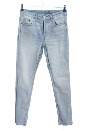 H&M DENIM Hoge taille jeans blauw casual uitstraling