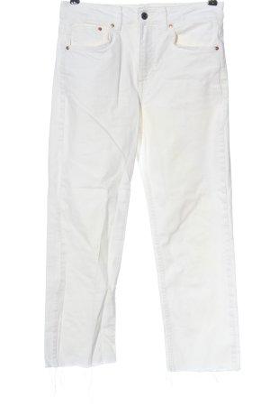 H&M DENIM High Waist Jeans weiß Casual-Look