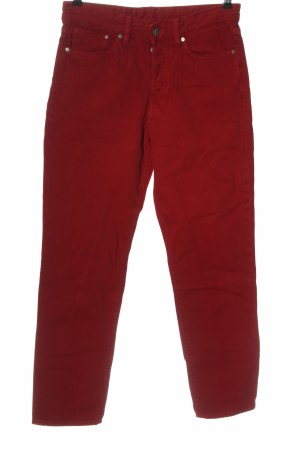 H&M DENIM High Waist Jeans rot Streifenmuster Casual-Look