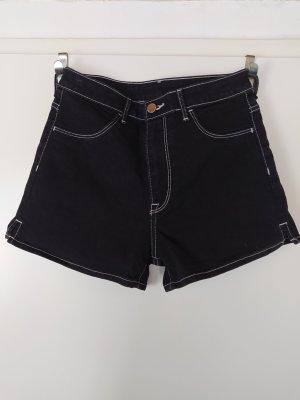H&M &denim High Waist Shorts, Schwarz, EUR 36