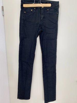 H&M denim Jeans schwarz Hose skinny Röhre
