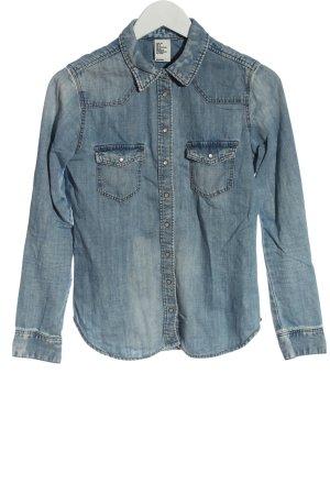 H&M DENIM Chemise en jean bleu style décontracté