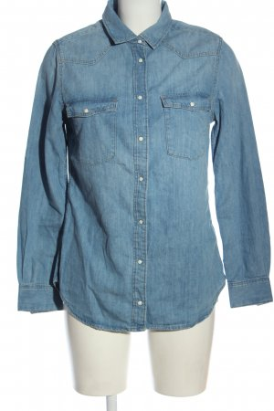 H&M DENIM Camicia denim blu stile casual