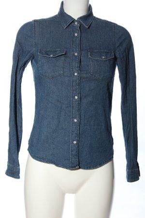H&M DENIM Jeanshemd blau Casual-Look