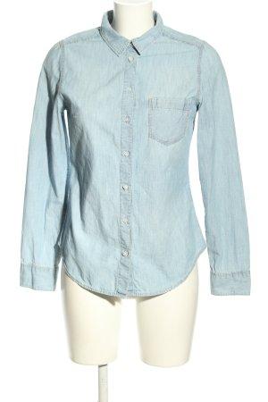 H&M DENIM Jeansowa koszula niebieski W stylu casual