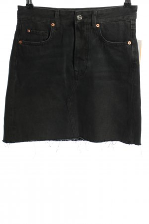 H&M DENIM Jeansrock schwarz Casual-Look