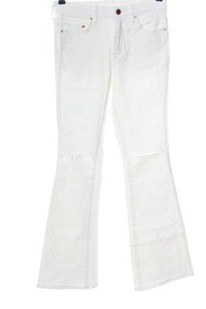 H&M DENIM Jeans a zampa d'elefante bianco stile casual