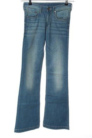 H&M DENIM Jeansschlaghose blau Casual-Look