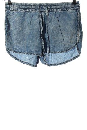 H&M DENIM Jeansshorts blau meliert Casual-Look