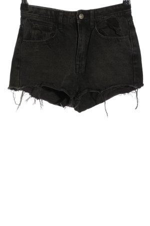 H&M DENIM Short en jean noir style décontracté