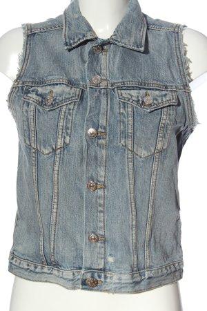 H&M DENIM Gilet en jean bleu style décontracté